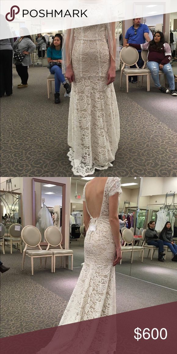 Galina Wedding Dress Beautiful lace sheath dress by Oleg Cassini. Brand new with tags. Never worn only tried on once. Will come with Davids Bridal dress bag Galina Dresses Wedding