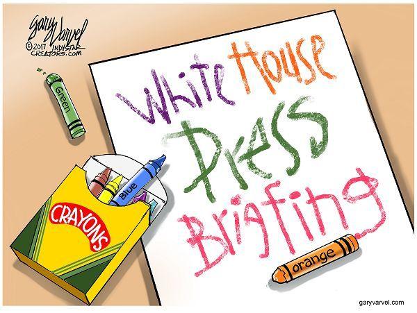 Cartoonist Gary Varvel: White House press briefing: 05/14/2017 ...