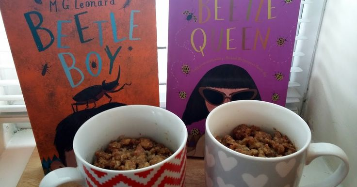 Beetle Boy by M.G. Leonard + apple and cranberry crumble