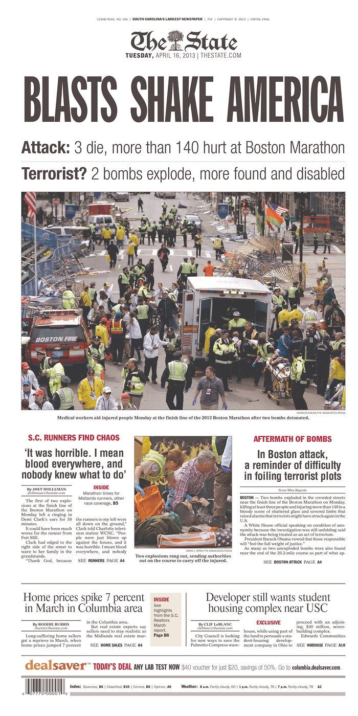 boston bombing essay The boston marathon bombing essay 1702 words 7 pages the boston marathon is an annual marathon hosted by several cities in greater boston in eastern massachusetts.