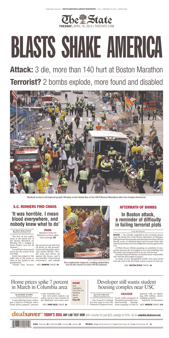 Boston Marathon Bombing - A day no one will ever forget.... #boston #bombing