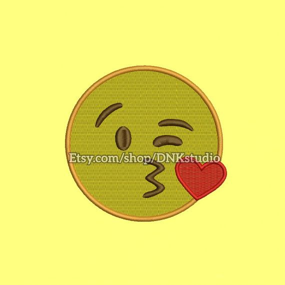 Kiss Emoji Machine Embroidery Design  This design manually made by hand, from start to finish. It is a digitized embroidery design for a buyer who has an embroidery sewing machine.  https://www.etsy.com/listing/479353102/kiss-emoji-machine-embroidery-design-7  #stitch #digitized #Sewing #Needlecraft #stitches #Embroidery #Applique #EmbroideryDesign #pattern #MachineEmbroidery #Heart #Eyes #Emoji #Emoticon #face #Kiss