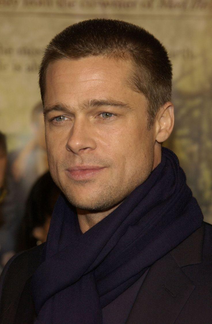 Brad Pitt Buzzed Hair.