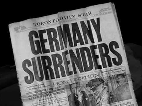 This is a picture of a Canadian newspaper after Germany surrendered. It is a credible source because it was published by the Toronto Daily Star. Canadian lives are changing after this moment because they are no longer at war with Germany and World War 2 is over.