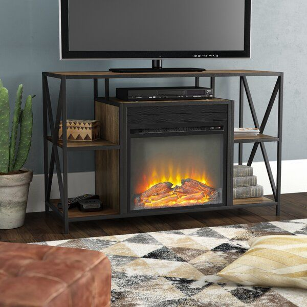 Neff Tv Stand For Tvs Up To 48 With Electric Fireplace Included Fireplace Tv Stand Electric Fireplace Union Rustic