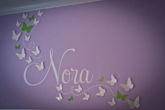 3D butterfly nursery wall art
