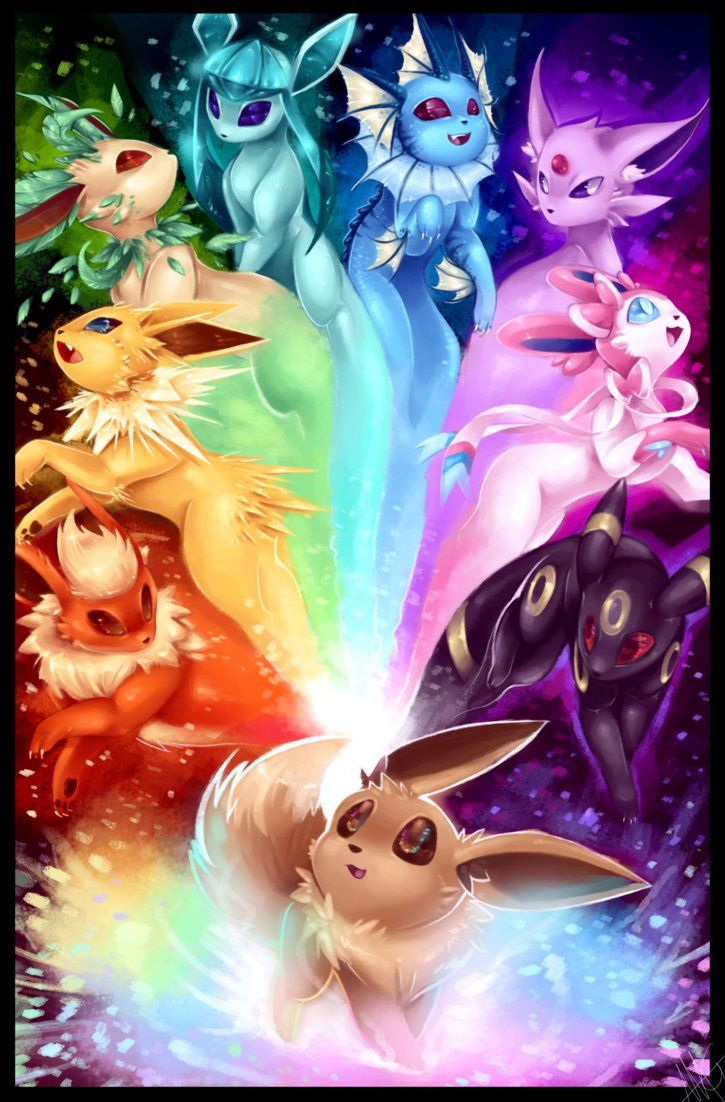 The possibilities - Eeveelution rainbow by WalkingMelonsAAA.deviantart.com on @DeviantArt