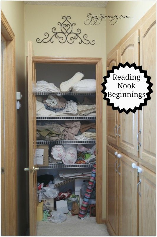 how to turn a closet into a reading nook