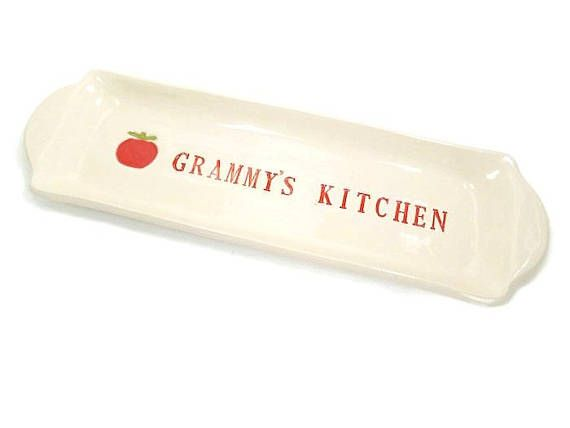 Grammy's Kitchen Dish, Grandmother Gift, Grammy Birthday, Kitchen Décor, Appetizer Plate, Snack Tray, Tomato Decor, Grammy Christmas Gift