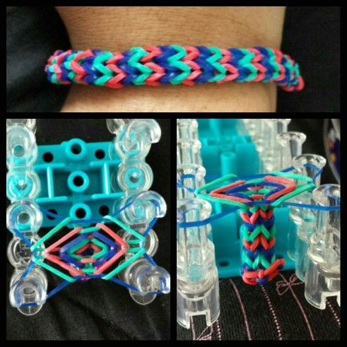 Chevron bracelet  http://www.rainbowloompatterns.org/rainbow-loom-bracelets/rainbow-loom-beginner/rainbow-loom-chevron/