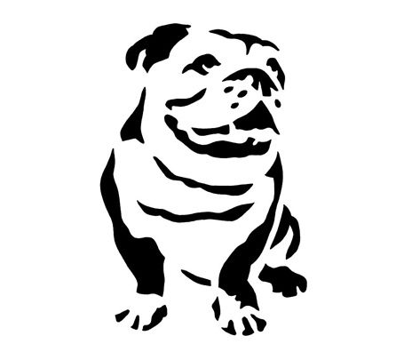 bulldog stencil french bulldog stencil bulldog stencil crafting diy 3309
