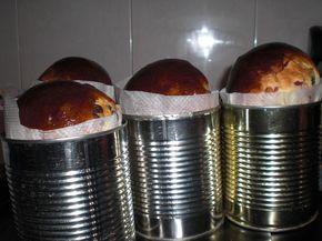 panettone casero hecho en una lata