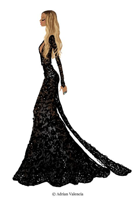 Beyonce by Adrian Valencia Grammys 2015.