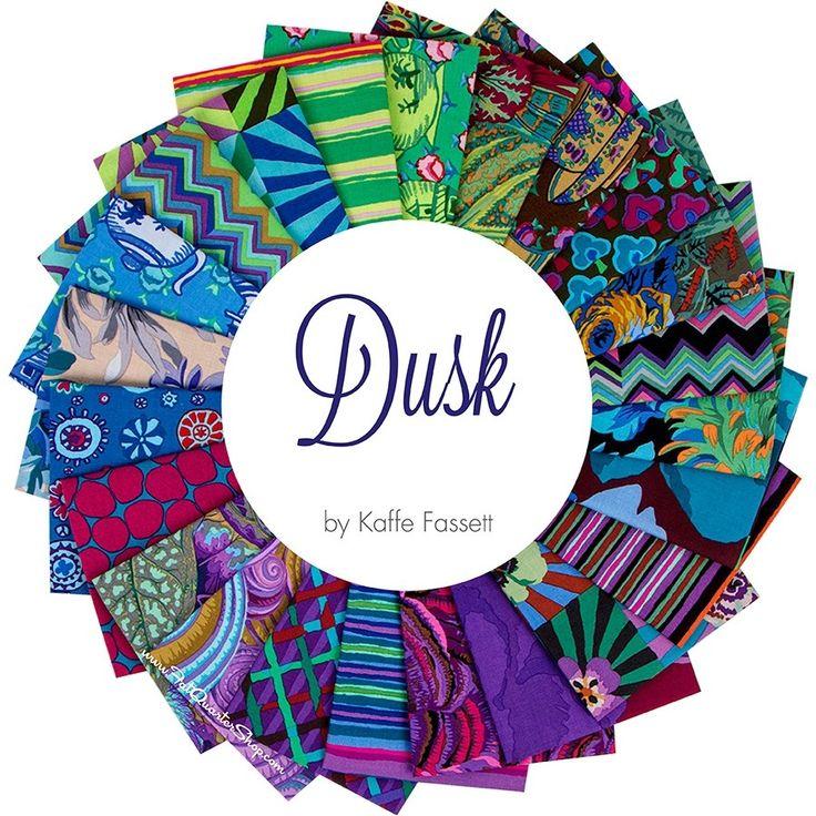 Dusk Kaffe Fassett Collective Fat Quarter Bundle<br/>Kaffe Fasset for Free Spirit Fabrics