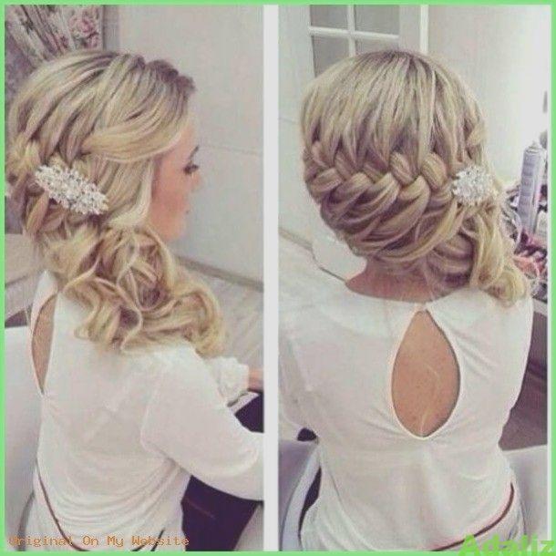 Haarschnitt Mittellang Frauen Schicke Brautfrisur Halboffen Flechtfrisur Mit B Flechtfrisuren Frisur Hochzeit Brautfrisur