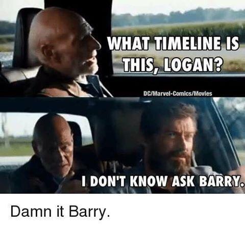 Funday Monday #humor  #logan #marvel #wolverine #flash #barry #dcComics #geek #nerdy #meme #lol #lmao #funnt #memes #jokes #monday #professorxavier #xmen