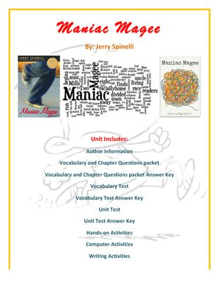 an analysis of the book maniac magee Maniac magee was written by jerry spinelli, newbery award-winning children's  author and writer of some of  the kind that appear on lists of best young adult  books of all time  i now know he intended the double meaning.