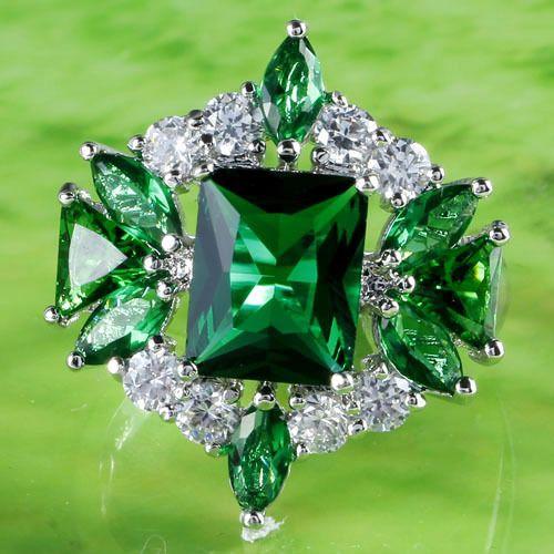 BIG A$$ EMERALD & DIAMOND RING 4 KRISTY