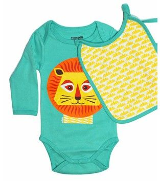 """LION"" BODYSUIT & BIB SET 