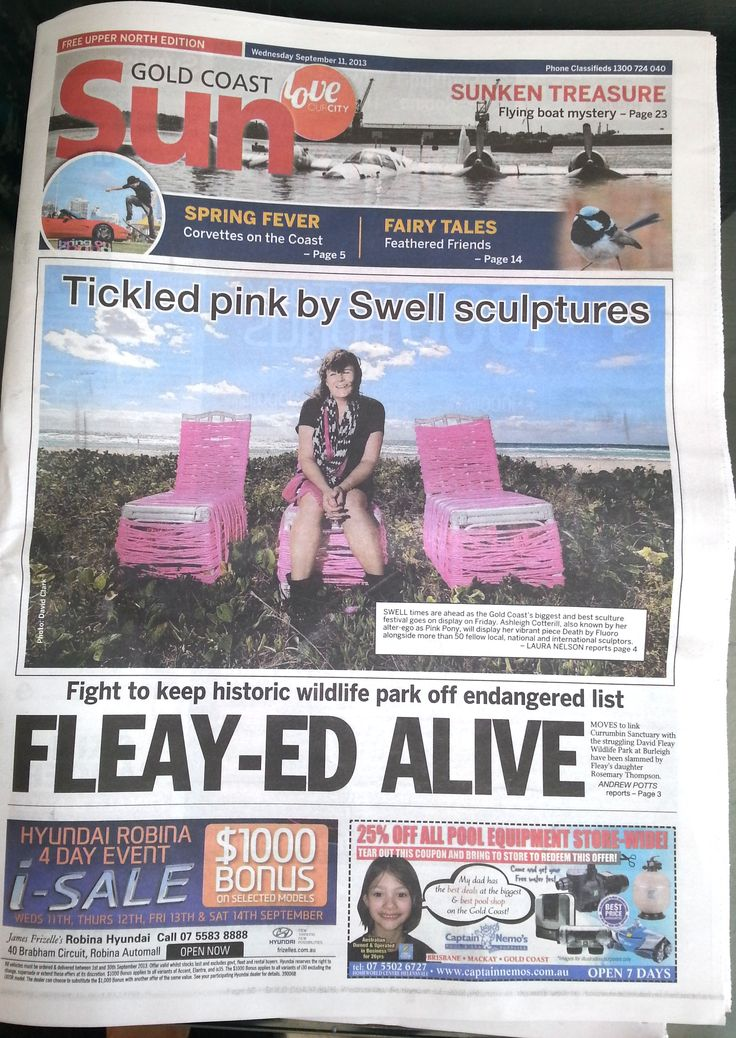 We made the front page of paper and a great write up last week. Now thats a Swell story ;0)