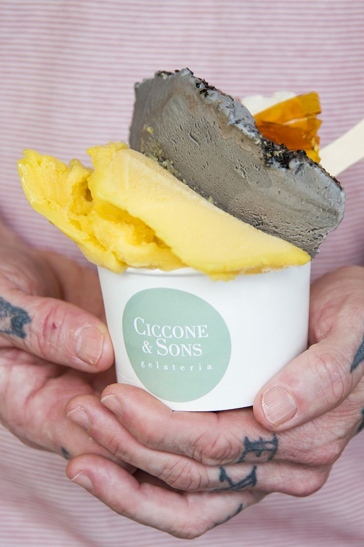 Ciccone and Son's buttermilk and passionfruit gelato