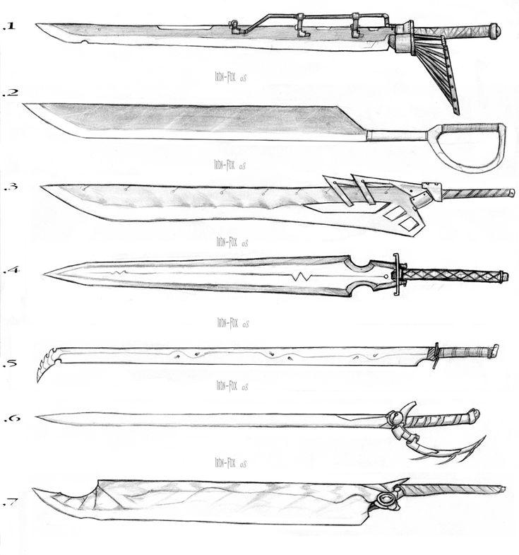 Sword Designs 3 by Iron-Fox.deviantart.com on @DeviantArt
