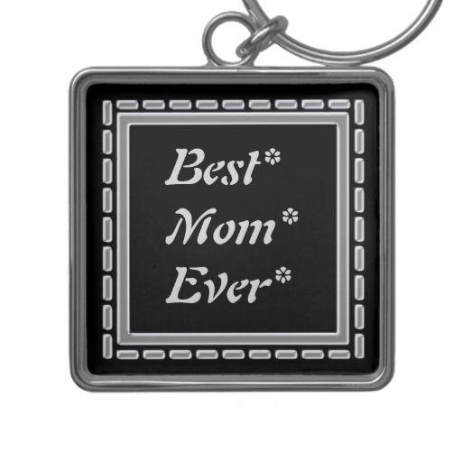 Best Mom Silver Frame Keychains