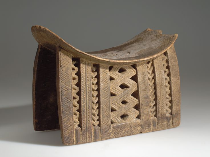 STOOL AFRICAN ETHNOGRAPHIC COLLECTION Catalog No: 90.2/ 3539 Culture: DOGON Country: MALI Material: WOOD Dimensions: L:41.6 W:20.7 [in CM]