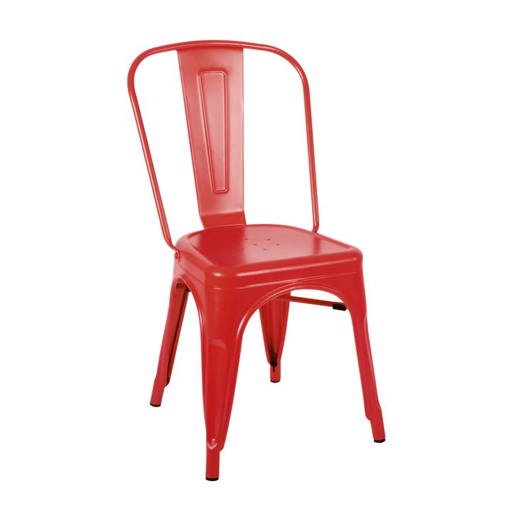 Tolix chair in matte red Indoor use only Matte finish