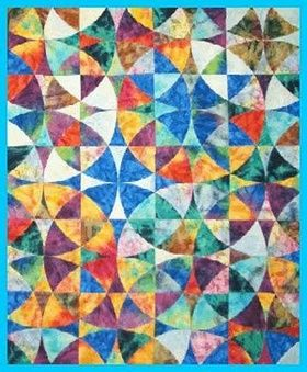 17 Best images about Winding Ways & Curves on Pinterest Puff quilt, Blue and white and Quilt