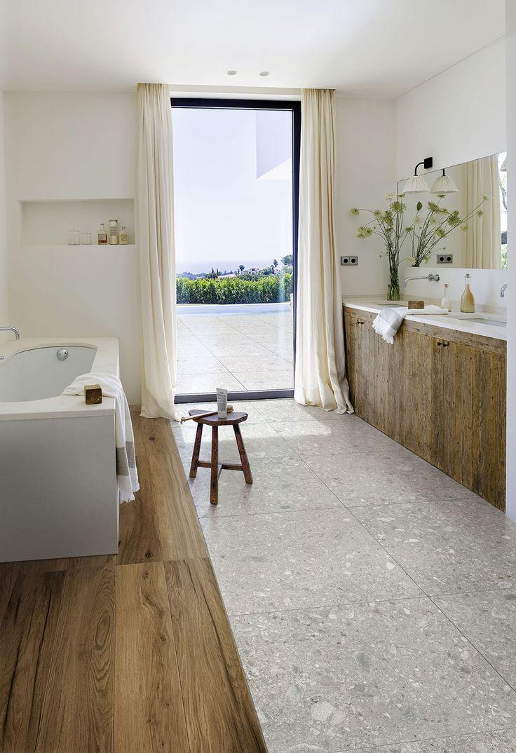 Mystone Ceppo di Gré ceramic tiles  #Marazzi #tiles #floortiles #bathroom #bathroomdesign #stonelook #stoneeffect