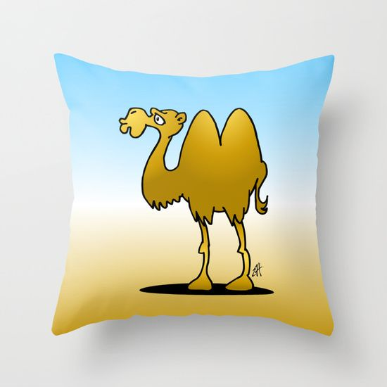 Buy Camel by Cardvibes.com - Tekenaartje.nl as a high quality Throw Pillow. Worldwide shipping available at Society6.com. Just one of millions of products available. #Society6 #Cardvibes #Tekenaartje