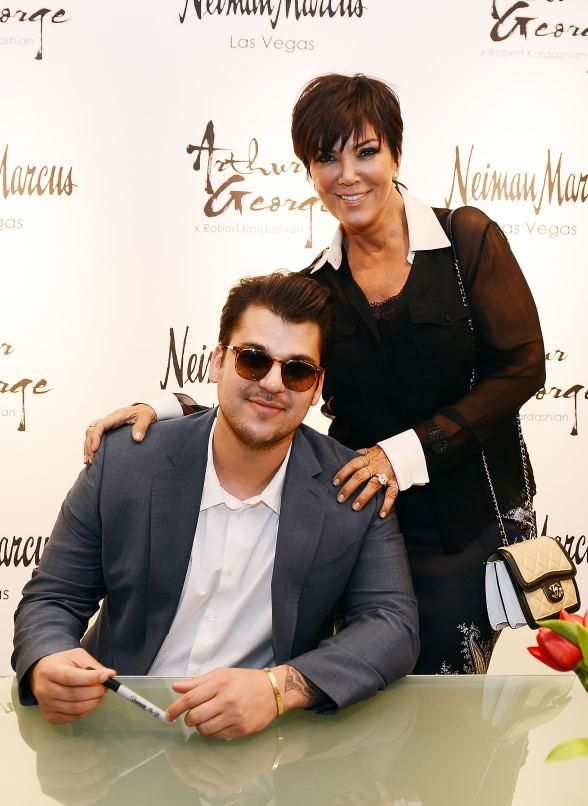 Rob Kardashian and Kris Jenner Unveil New Arthur George by Rob Kardashian Sock Collection at Neiman Marcus
