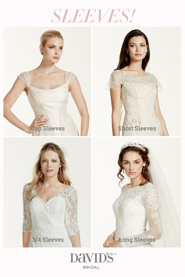 Sleeves please add chic coverage to your wedding dress for Adding cap sleeves to a wedding dress