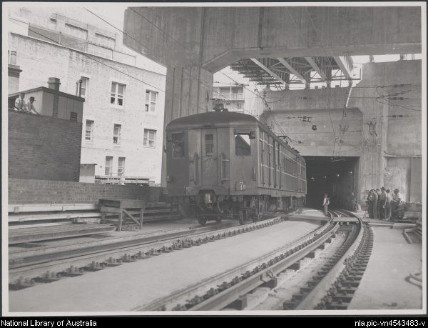 New South Wales Government railway construction of Circular Quay Railway Station,Sydney,1956.Photo from National Library of Australia.A♥W