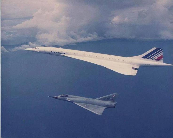 pinterest.com/fra411 #aircraft - delta wings a la french touch (Concorde and Mirage III)