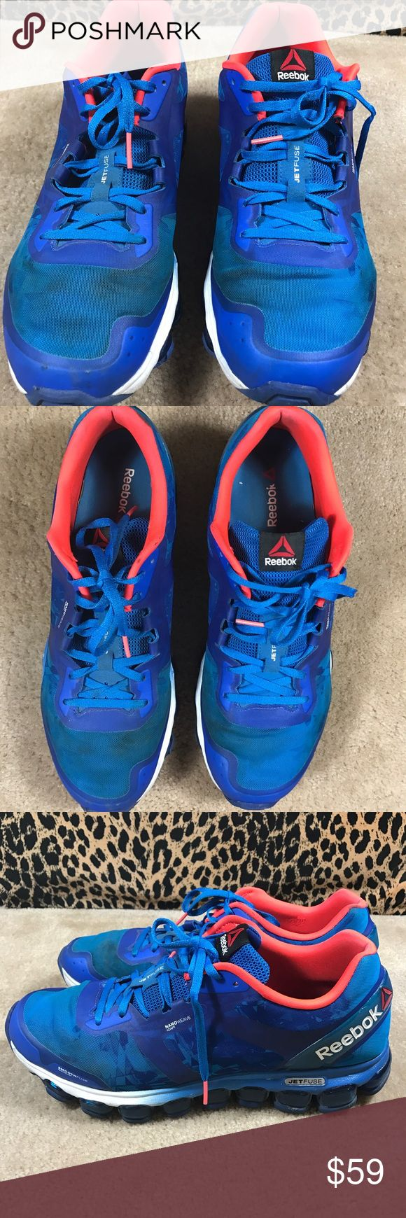 Reebok Men JetFuse Z Jet Soul Running Size 12 GUC You are looking at Reebok Men JetFuse Z Jet Soul Running Shoes Sneakers (Blue / Indigo / Cherry).  The size is 12 US. Used condition, please see photos. Reebok Shoes Sneakers