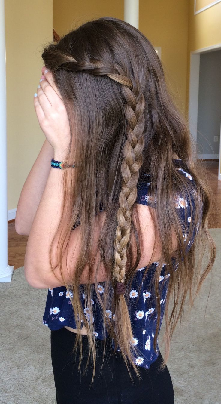 Hair with Braid ✨ Great for second-day, straightened hair
