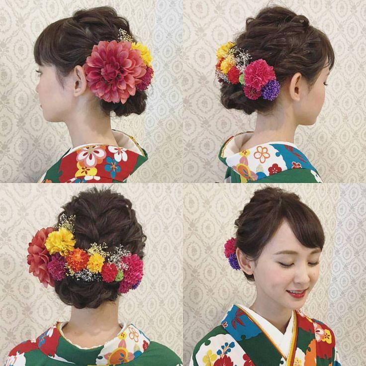 前回のpicのお客様の2着目 せっかく2着選んでくださったので、がらっと変えましょう!と大幅チェンジ!! 下めの編み込みアップ ダリア、マム、かすみ草を 付けました リップも濃い目の赤で イメージ変わりますね♪ #ヘア #ヘアメイク #ヘアアレンジ #結婚式 #結婚式ヘア #スタジオ撮影 #美容学生 #卒業式 #バニラエミュ #セットサロン #ヘアセット #アップスタイル #成人式ヘア #プレ花嫁 #フォトウェディング #前撮り #着物ヘア#ロケーション撮影#卒業式ヘア #花#成人式#2017夏婚 #2017春婚 #結婚準備#色打掛 #日本中のプレ花嫁さんと繋がりたい #2017秋婚 #振袖 #花嫁ヘア#和装ヘア
