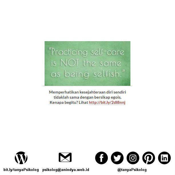 Tips Menyayangi Diri Anda Sendiri. Kenapa Penting ya?  #tanyaPsikolog #psikolog #jakarta #konseling #konsultasi #konsultasipsikologi #PsychologistJKT #Psychology #MHSM #psikologi #PsychologistJakarta #mentalhealth #thecouch #education #tanyapsikologi  Untuk membaca artikel secara lengkap bisa membuka Blog Anindya Psychological Practice? http://bit.ly/2dl8nnj