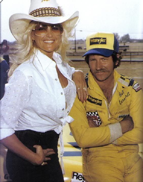 Linda Vaughn, Miss Hurst 1970 - with Dale Earnhardt