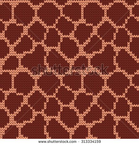 Giraffe Knitting Pattern Jumper : knitted seamless pattern giraffe - stock vector machine knitting Pinteres...