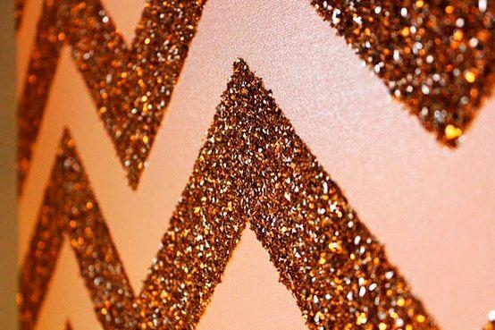 Glitter chevron art.