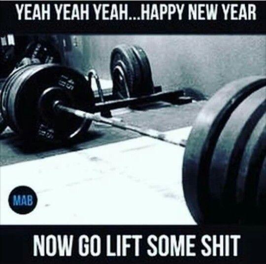New year new me bullshit lifting humor