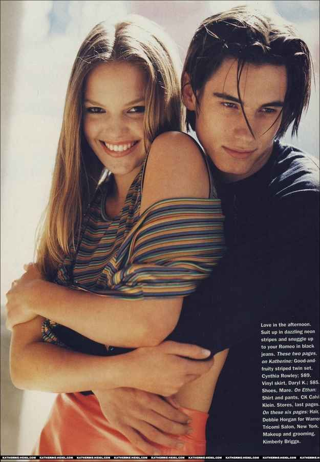 And hung out with boys with middle parts. | Katherine Heigl's Teenage Modeling Career Was Surprisingly Awesome