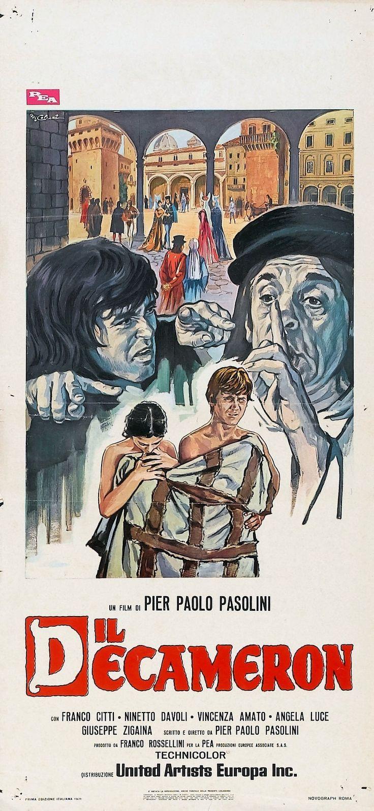 """""""Il Decameron"""" (1971). Country: Italy. Director: Pier Paolo Pasolini. Cast: Franco Citti, Ninetto Davoli, Pier Paolo Pasolini, Angela Luce, Patrizia Capparelli, Silvana Mangano, Guido Alberti"""
