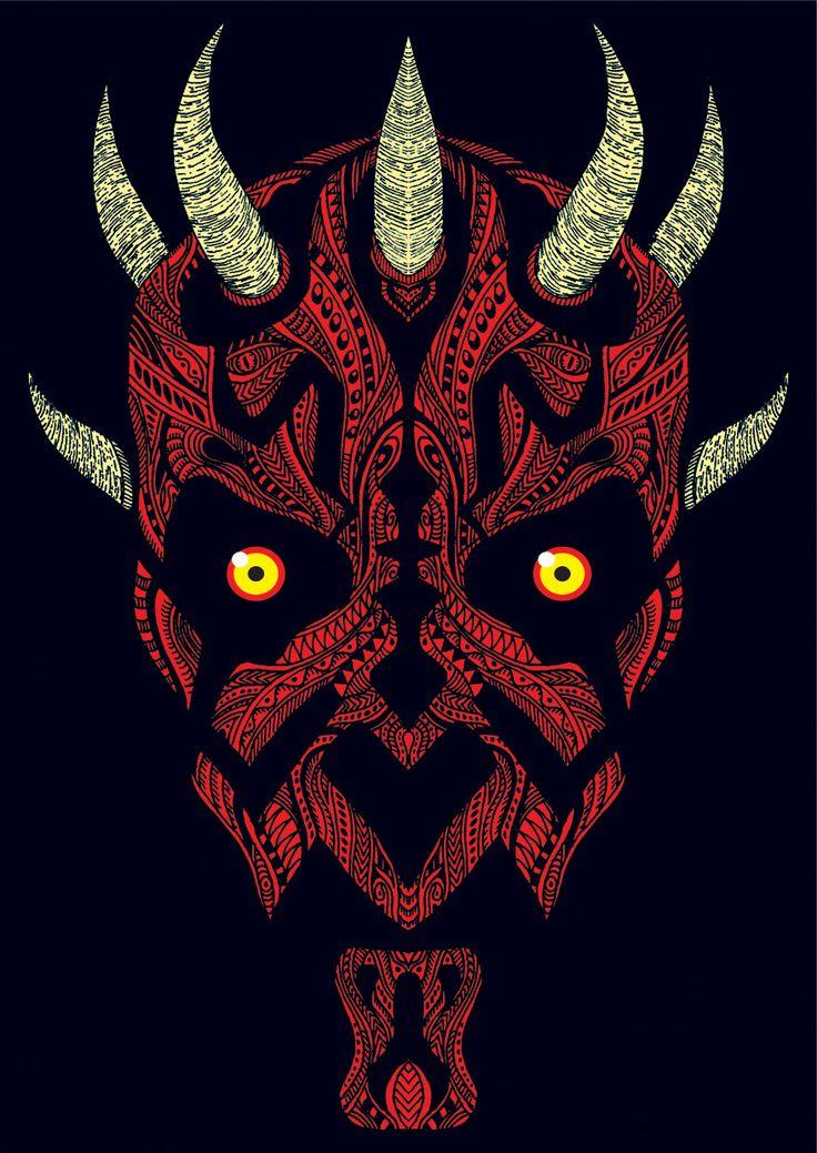 """ Darth Vader "" Star Wars Illustrations by Jakarta, Indonesia-based Khairul Umam"