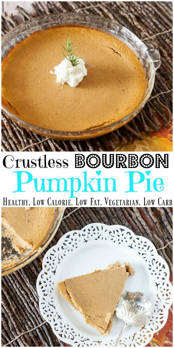 Crustless Bourbon Pumpkin Pie – No Sugar Added | Recipe