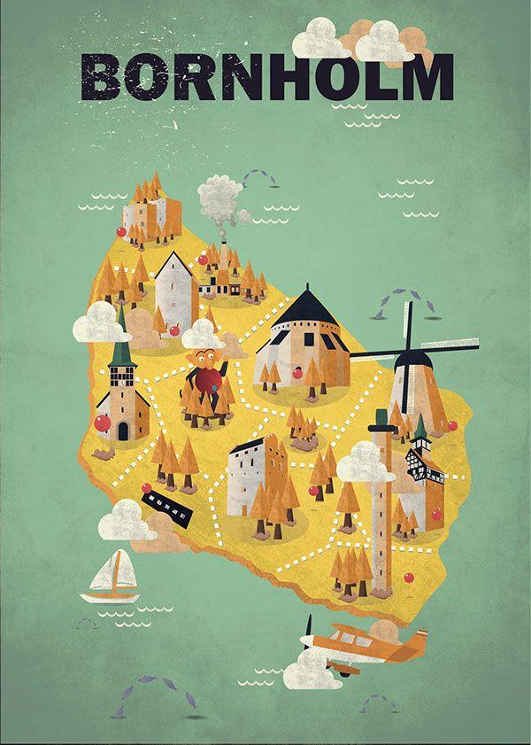 Official Bornholm Island Poster 2015 (Winner) on Behance by Mikkel Aabjerg