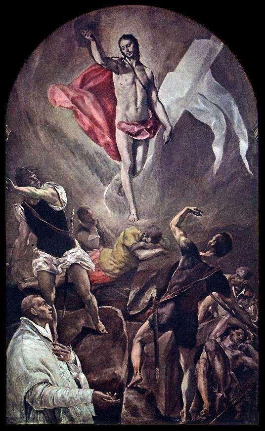 The Resurrection / 1577-79 / Oil on canvas / Church of Santo Domingo el Antiguo, Toledo